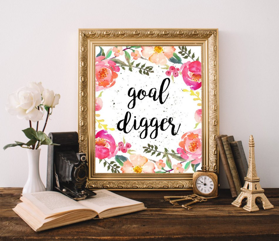 Goal Digger WordsAndConfetti Etsy