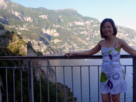 Maximina Brion in Amalfi Coast Italy