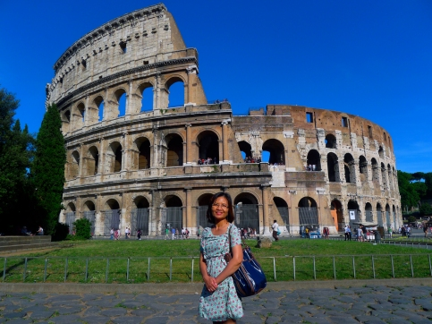 Maximina Brion at the Colosseum