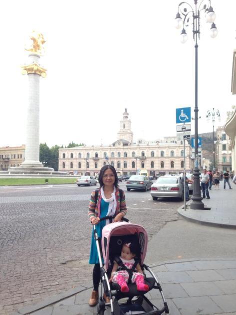 Freedom Square Tbilisi Georgia