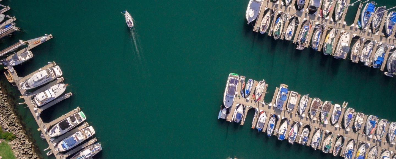 ships yacht on dock