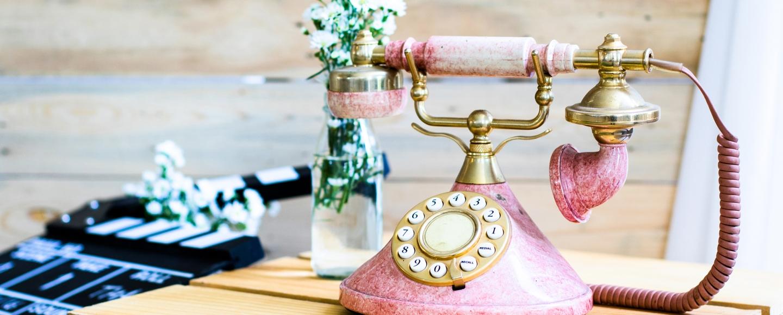 Pink Vintage Telephone