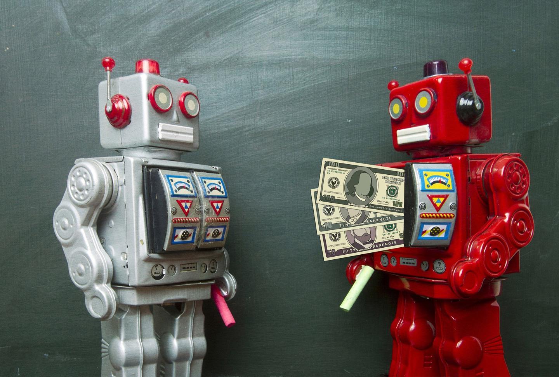 Robot giving money